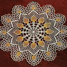 Doily Crochet Pineapple Doily Gold Thread Doily Pattern