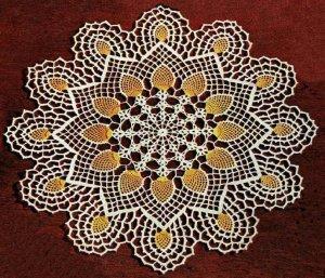 Pineapple Crochet Doily Pattern Vintage Crochet Doily