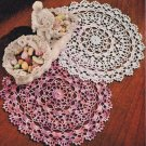 Shaded Pink Lavender Doily Vintage Crochet Pattern