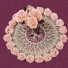 Crochet Carnation Lei Doily Pattern, Vintage Flower Centerpiece, Floral Table Mat