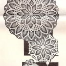 Doilies Lace Pineapple Round Vintage Doily Pattern Table Crochet