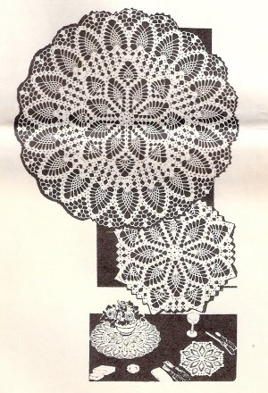 Doilies have become popular again. Crochet a selection by using