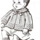 Vintage Layette Patterns, Baby Clothes Pattern Crochet Set