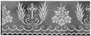 Filet Crochet Patterns Church - Altar Table Lace Edgings Trims