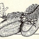 Vintage Slippers Baby Crochet Patterns, Booties Patterns