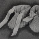Vintage Crochet Baby Booties, Baby Slippers Crochet Patterns