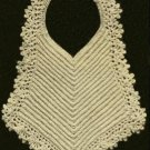 Antique Crochet Baby Bibs Pattern,Vintage Gift