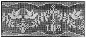 Church Altar Patterns Crochet Filet, Edging for Church Tables