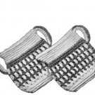 Crochet Patterns Sugar Creamer Potholders, Kitchen Set