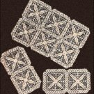 Chair Sets Crochet Patterns Square Motifs Pattern Vintage Thread