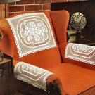Filet Chair Sets, Pattern Rose Crochet Sets Filet Lace