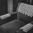 Chair Set Pattern  Crochet Flower Filet 50s