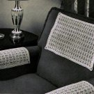 Crochet Chair Sets, Bird Tracks Pattern Set