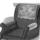 Filet Crochet Chairsets, Vintage Design: Buckingham #7224 Chairsets Pattern