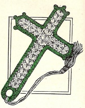 Crochet Bookmark Cross Pattern