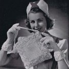 Lace Vintage Pdf Crochet Pattern Purse, Lace Gloves