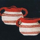 Pattern Creamer Sugar Vintage Pattern Potholder Crochet