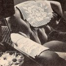 Filet Rose Vintage Chair Sets Patterns, Lace Chair Crochet, Chairsets Filet