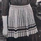 Crafts: Vintage Thread Apron Pattern,  Crochet Half Waist Kitchen Apron