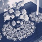 Blossoms Buffet  Doily Set  Pattern Dresser Doily