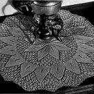Knit Doily, Knit Setting Sun Pattern, Doily Knit Vintage