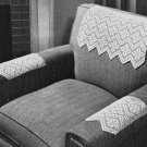 Chair Set Pattern Filet Chair Vintage Crochet