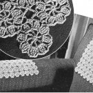 Vtg Crochet Motif, Flower Thread Pattern, Lacy Designs, Floral Chair Sets
