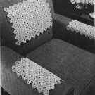 Chair Set Set, 7730 Crochet Patterns Thread Motifs