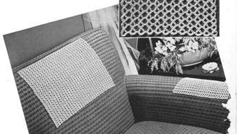 #7733,  Chair Backs  Set  Crochet Pattern