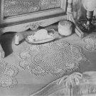 Crochet Pattern Doily Set Scallop Shells Dresser Doilies