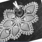 Pineapple Pattern Doily, Crochet Lace, Vintage Oval Doily 7714