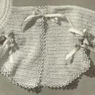 Baby Pattern Infants Clothing- crochet sweater sacque