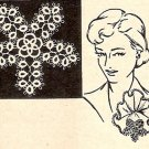 Applique Eastern Star, Pattern Tatted,  Motif Star Tatted
