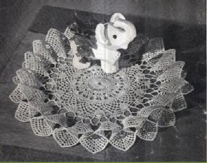 Crochet  Full Bloom Ruffle, Doily  Pattern