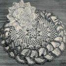 Ruffled Nosegay Crochet  Pattern, Vintage Doily