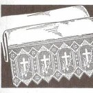 Altar Table Church Crochet Pattern Edging with Crosses, Altar Cloth Filet Edging