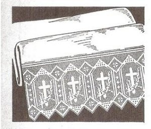Altar Filet Crochet  Patterns Cloth Edgings