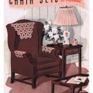 Book Crochet Pattern  143 Chair Sets, Vintage Pattern Crochet Sets
