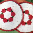 Flower Pattern Christmas Crochet Potholders, Applique  Motifs