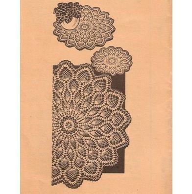 Vintage Mail Doilies Thread Crochet Pineapple Crochet Patterns