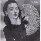 Hiawatha Handbags Crochet  Patterns, Matching Vintage Hats