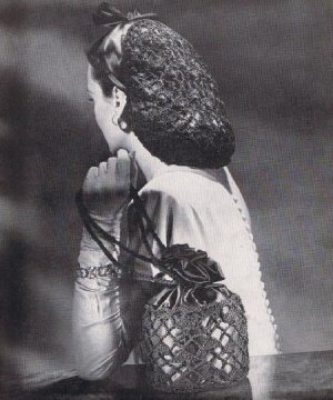 Civil War Crochet Headdress Hair Net Snood Pattern 1862 -
