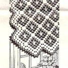 Crochet Pattern Thread Filet Table Runner Pattern