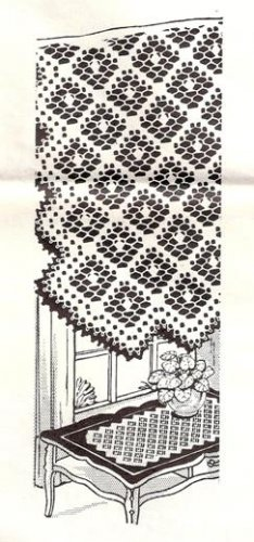 Filet  Table Runner Pattern Crochet Pattern
