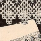 Patterns Crochet Vintage Pillowcase Edging Spiderweb Lace