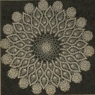 Doily Crochet Pineapple Pattern, Large Table Cloth Lacy Rose Motif