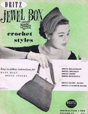Crochet  Book Beaded Patterns Vintage PDF