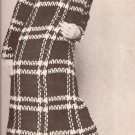 Pdf Coat Midi Length, 60s Womens Fashion Crochet Pattern