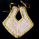Crochet Vintage Bib, Crochet Patterns,  Vintage Thread Baby