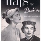 Crochet Vintage Hats, Beehive Vintage Book, Pdf Patterns Hats